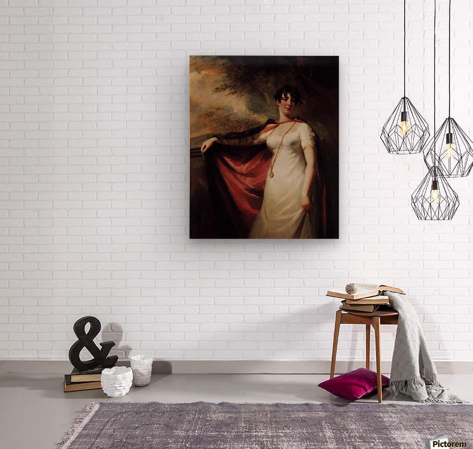 Mrs. Anne Hart  Wood print