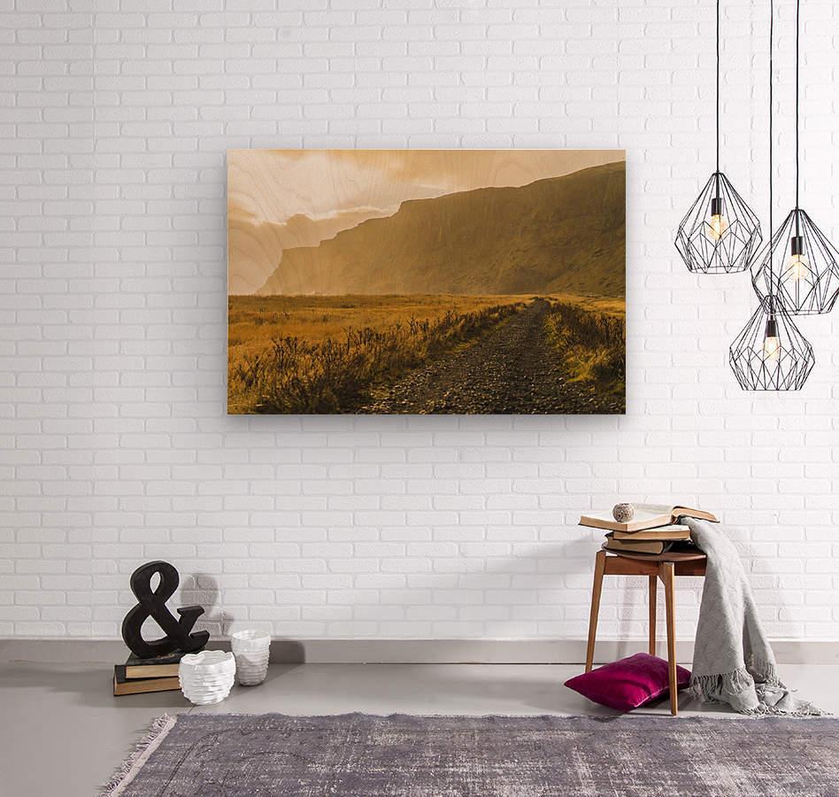 Icelandic sunset in Vik Iceland  Wood print