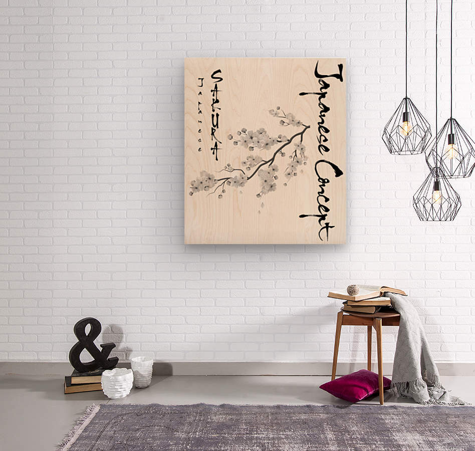 Japanese Concept 02A  Wood print