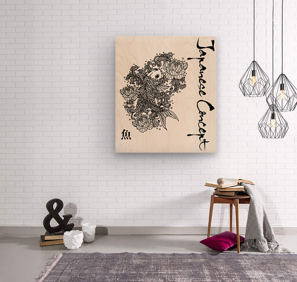 Japanese Concept 05A  Wood print