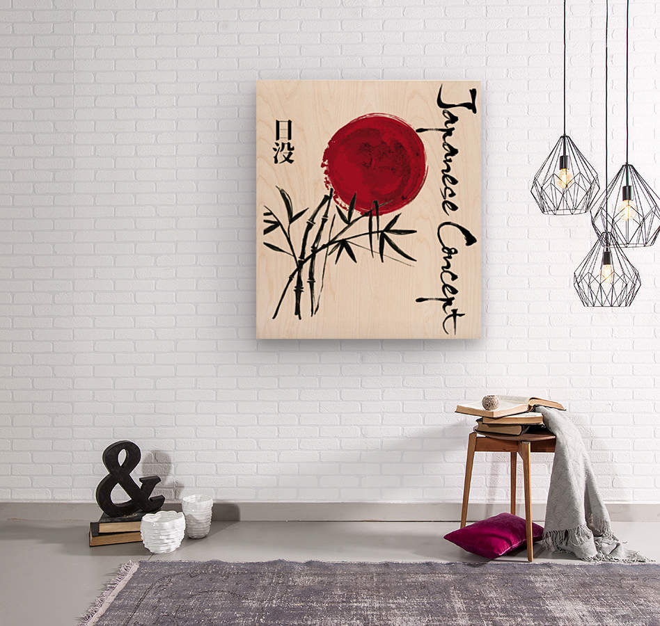 Japanese Concept 08A  Wood print