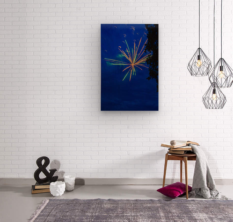 Fireworks 2019 8  Wood print