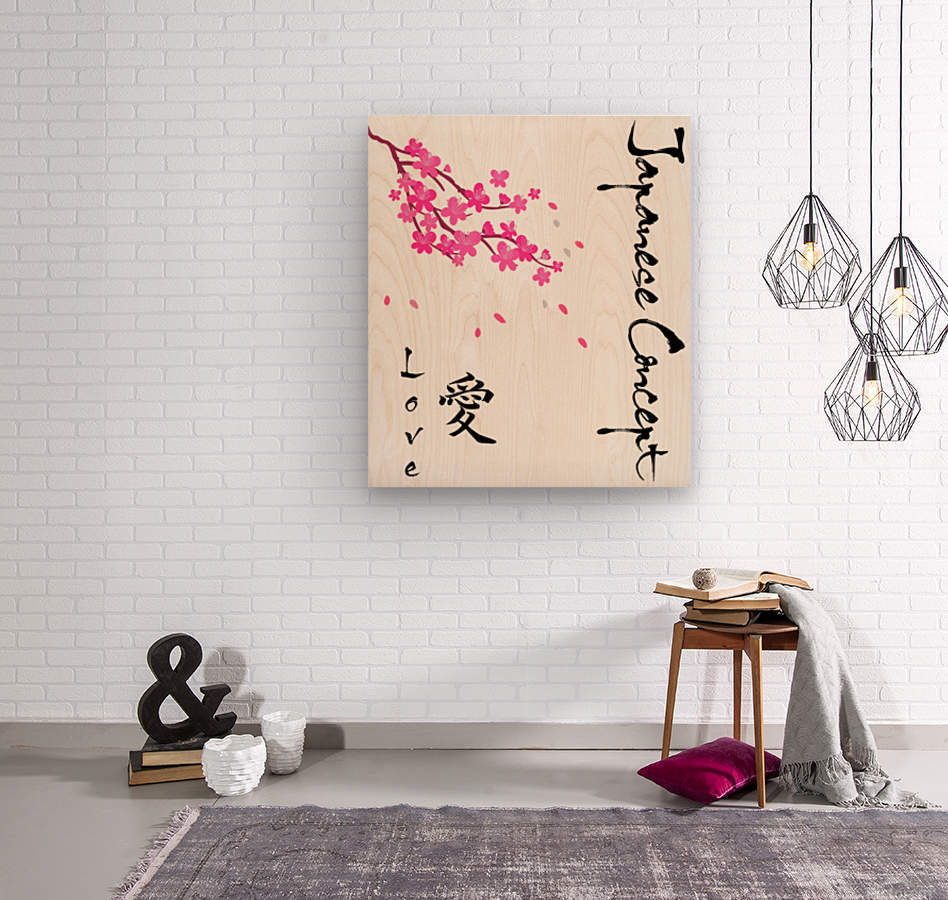 Japanese Concept 07A  Wood print
