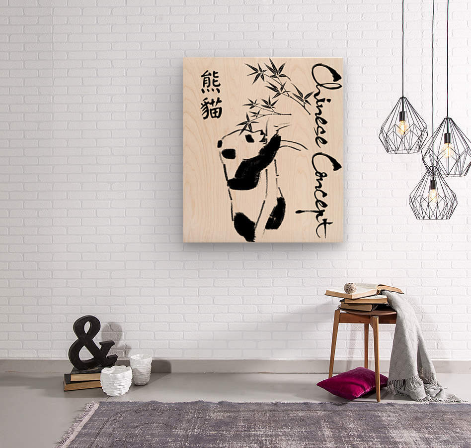 Chinese Concept 11A  Wood print