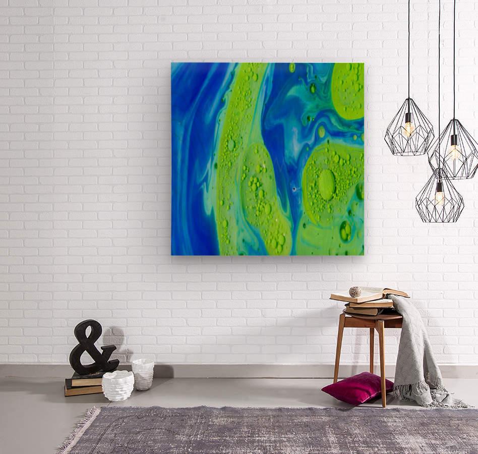 Art Swirls  Wood print