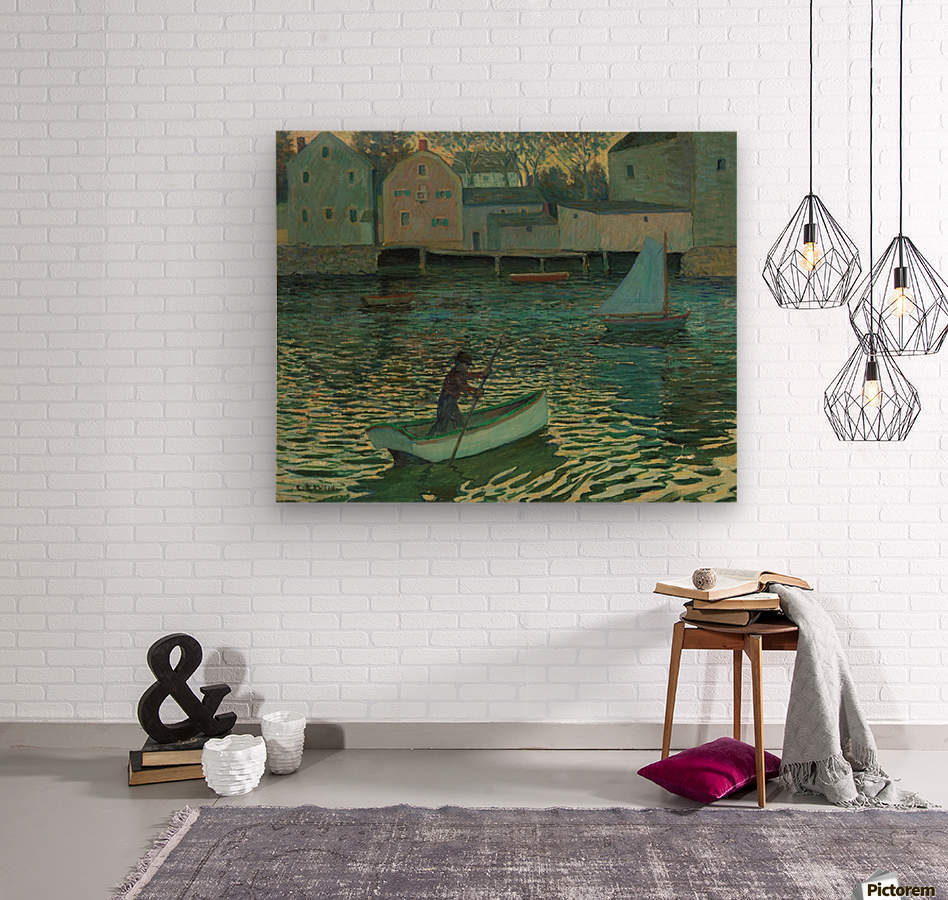 Boat in the water  Wood print
