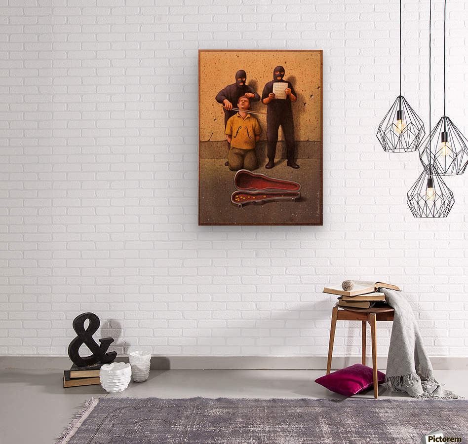 Violon  Wood print