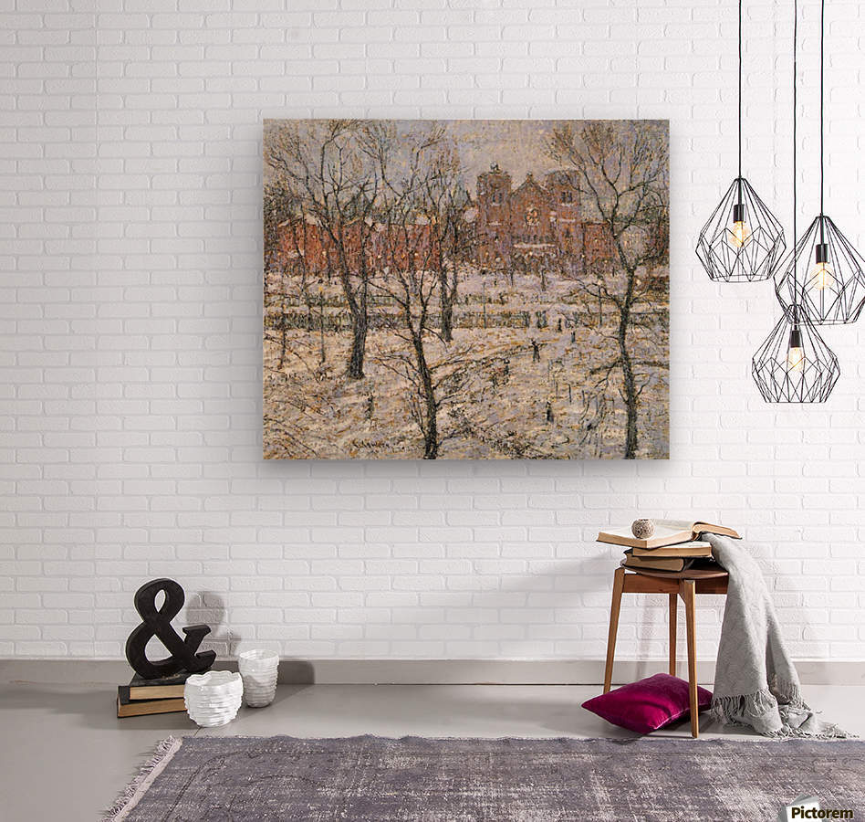 Cathedral in winter  Wood print