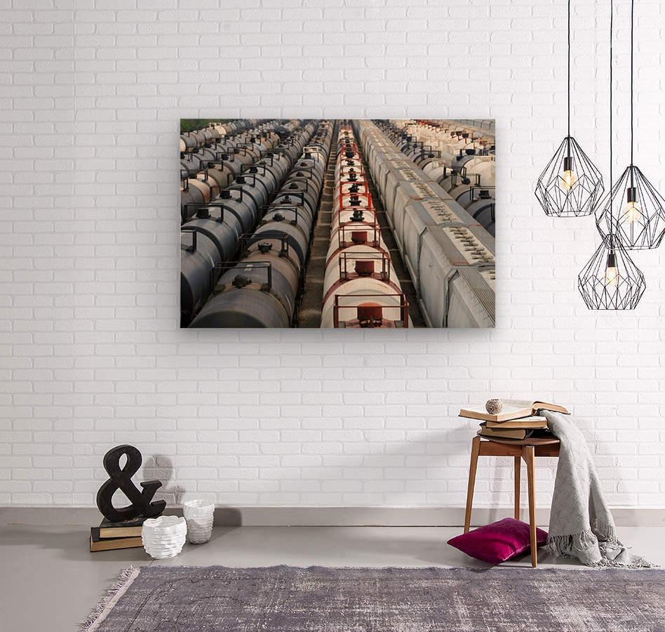The Rail Yard - HDR  Wood print