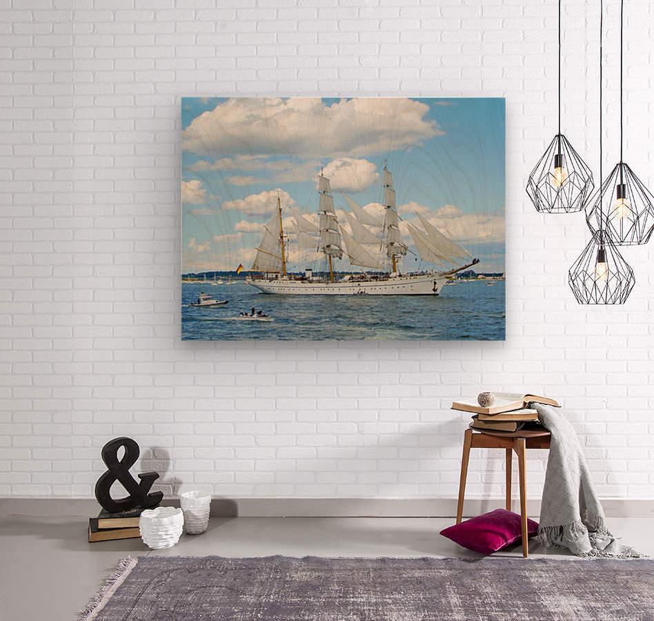 Tall Ships  Newport  Rhode Island  Wood print