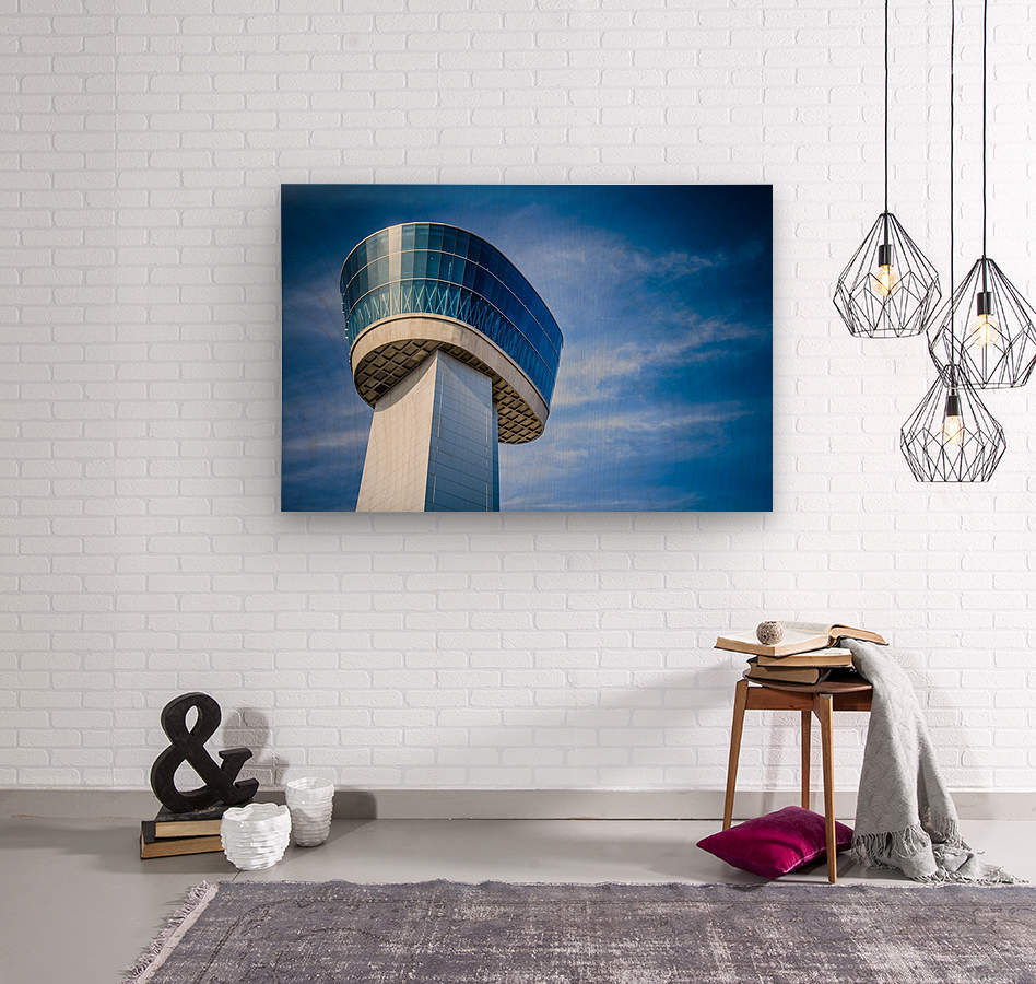 Airport Traffic Control Tower  Wood print