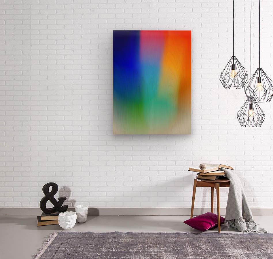 Aura  Wood print