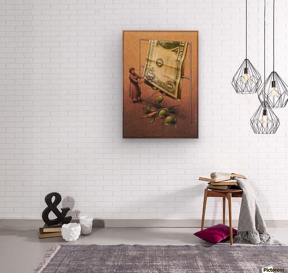 Dollar  Wood print