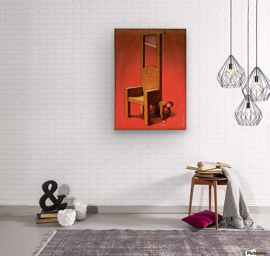 Throne  Wood print