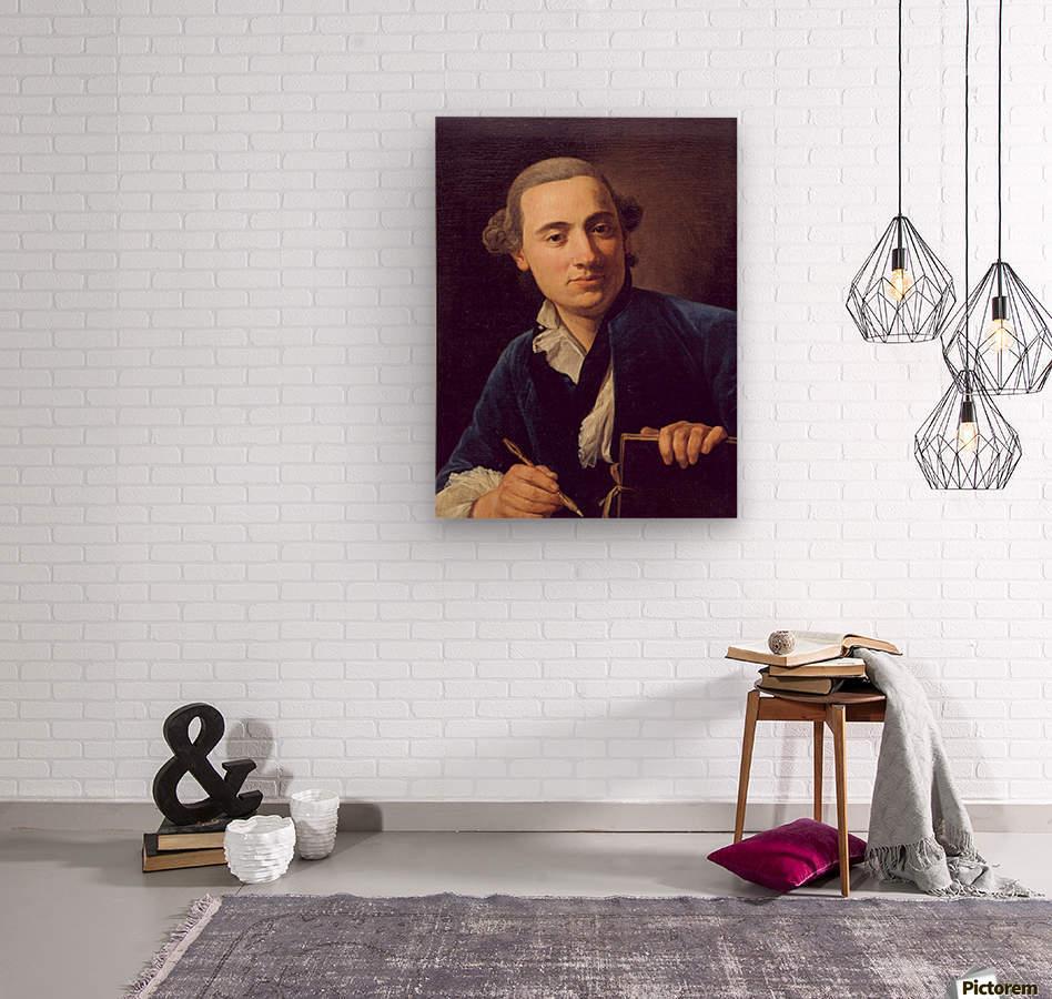 Self-portrait  Wood print