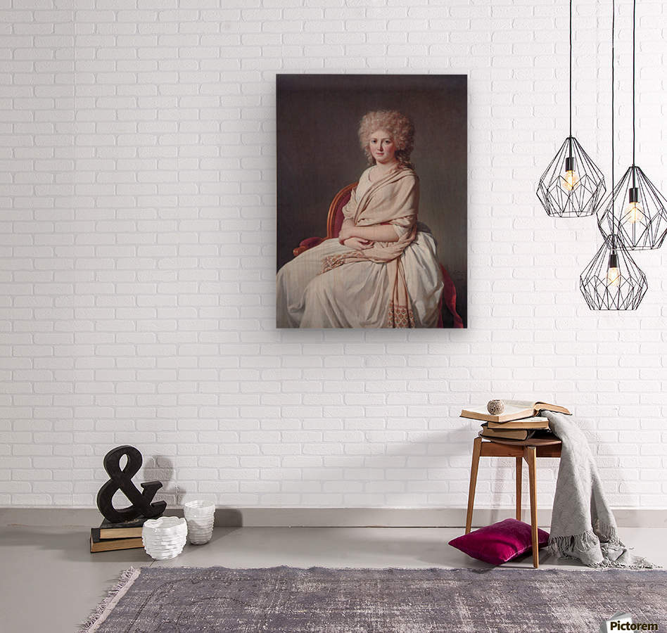 Portrait of Anne Marie  Wood print