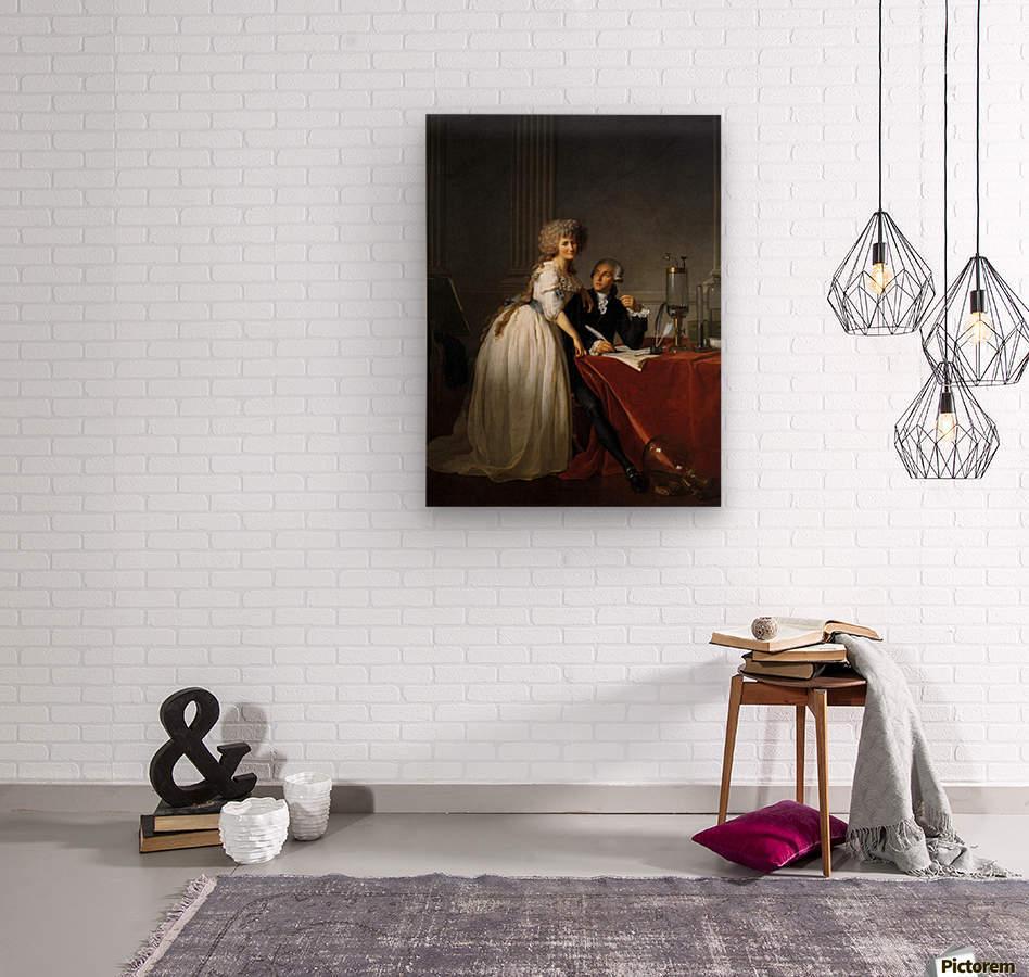 Portrait of Antoine Laurent and Marie Anne Lavoisier  Wood print