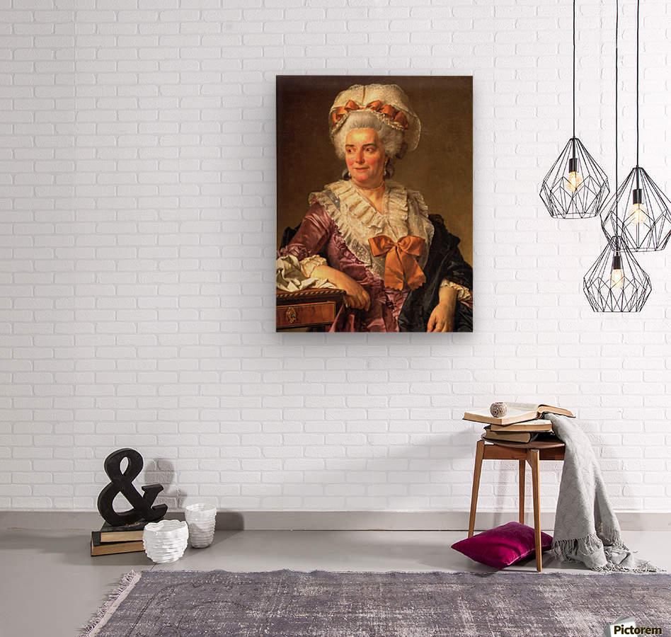 Portrait of Genevieve Jacqueline Pecoul  Wood print