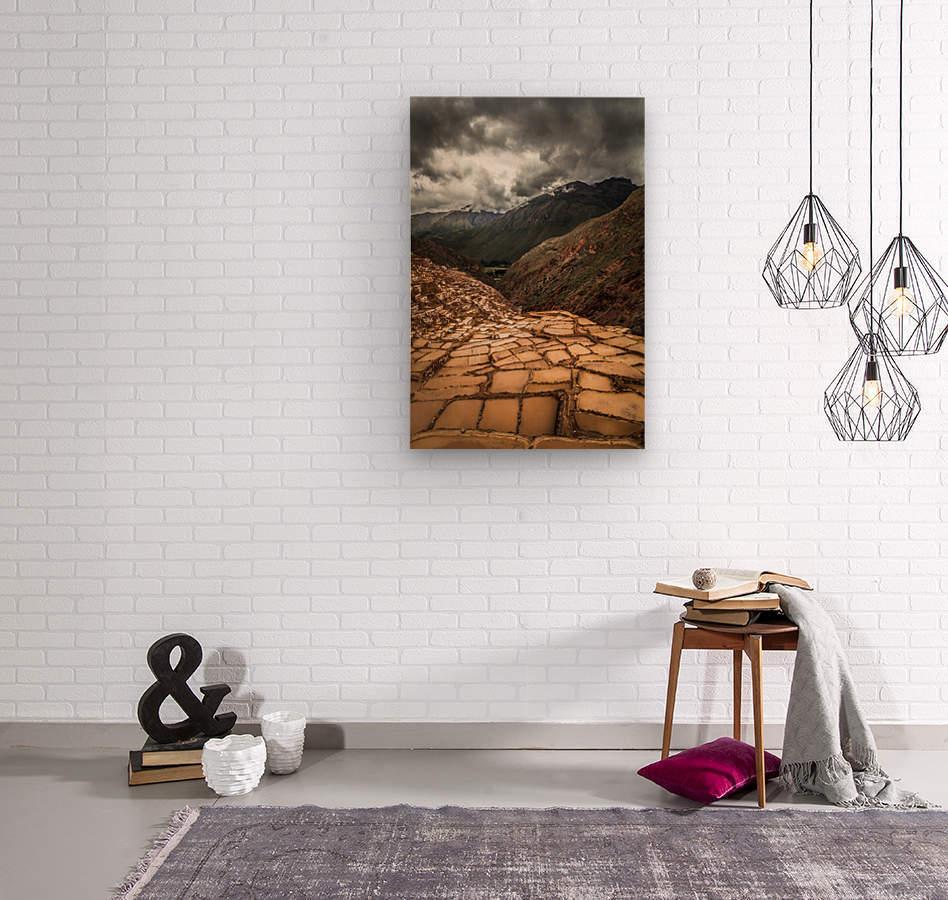 Maras Salt Mines  Wood print
