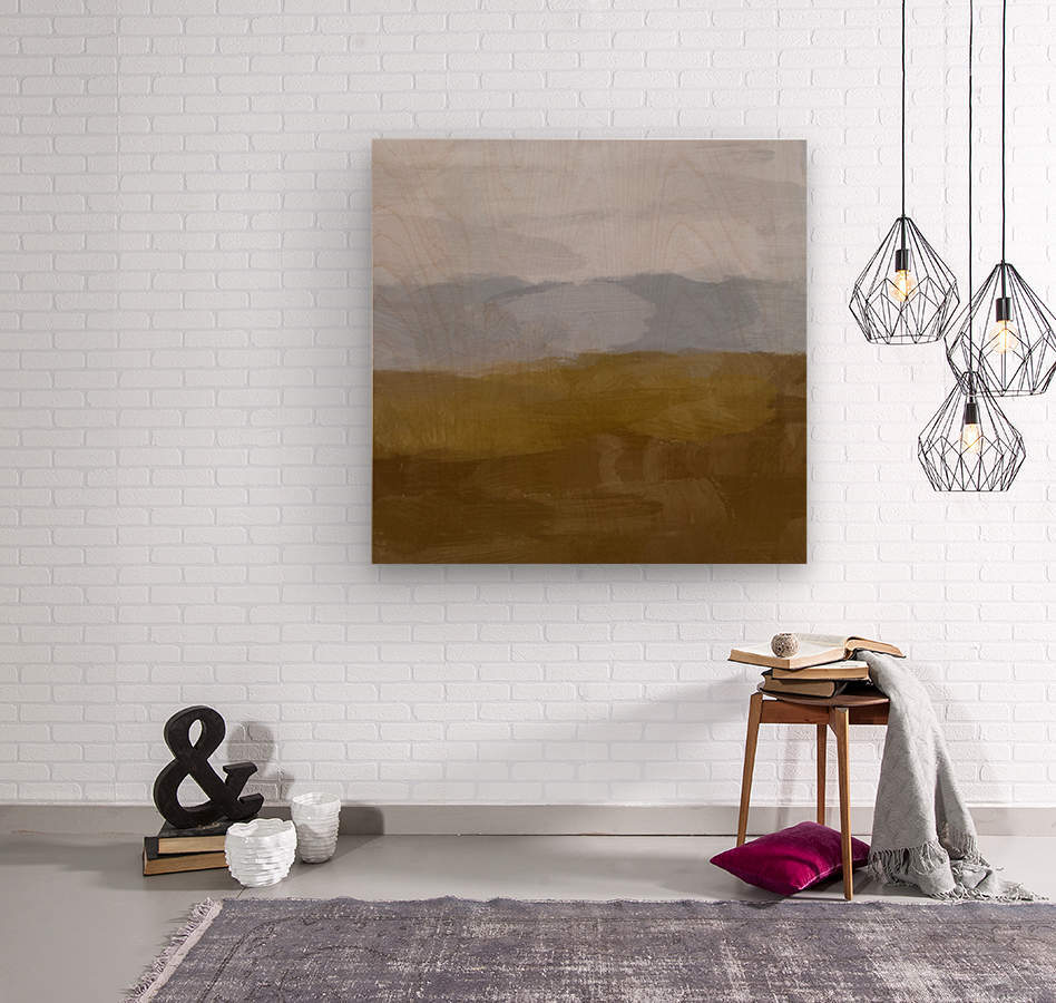 Yellow Hills  Wood print