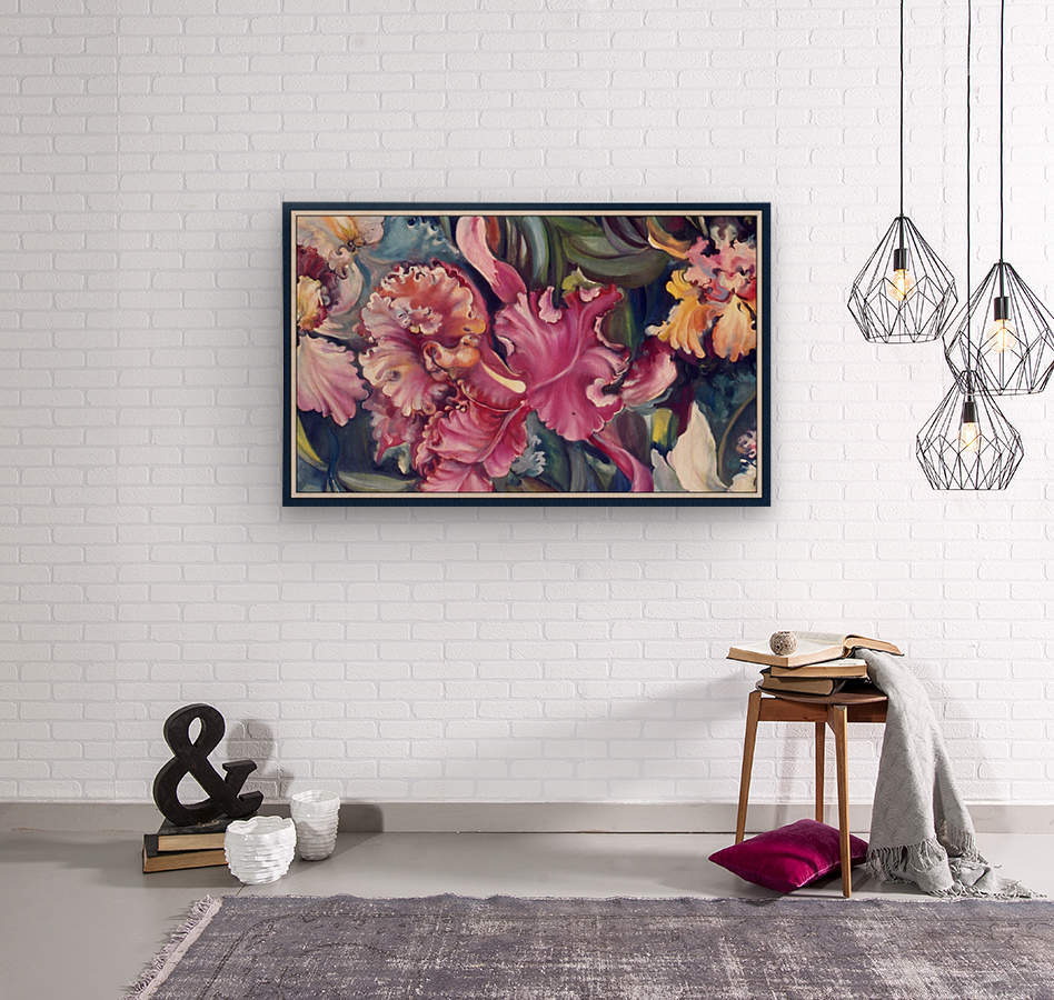 Orchids Blooming   Impression sur bois