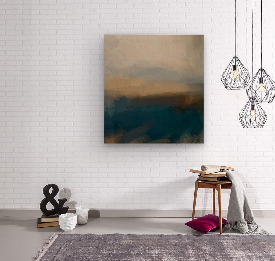 Lapis Blue Landscape  Wood print