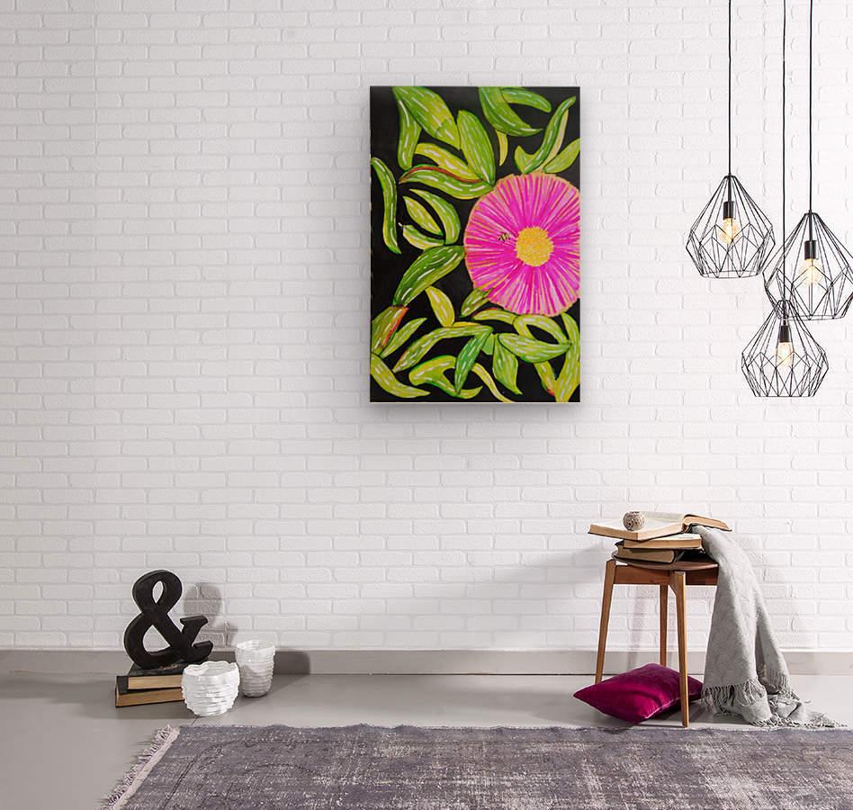Coastal Flower  Wood print