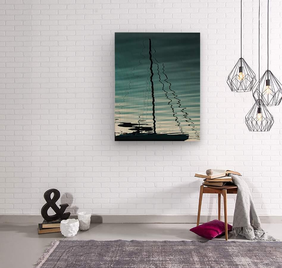 Sailboat Ripples  Wood print