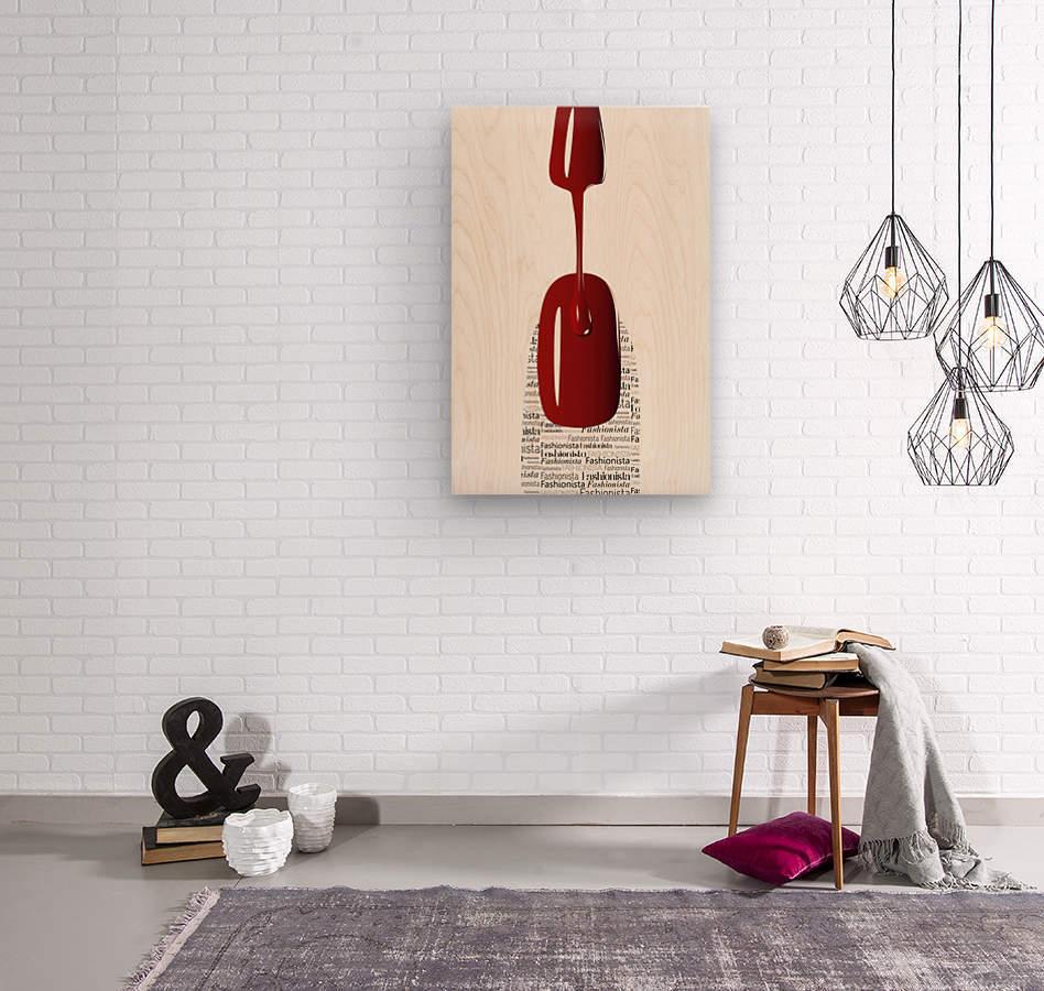 Fashionista  Wood print