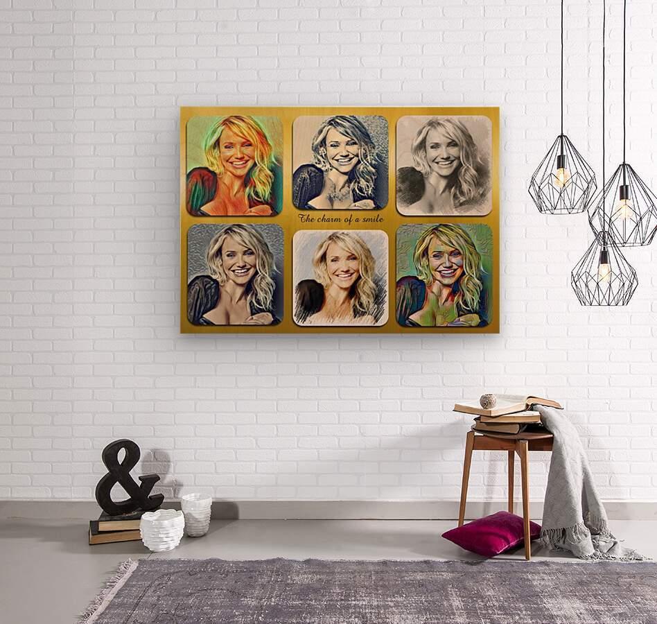 Cameron Diaz pop starcelebrity   Wood print