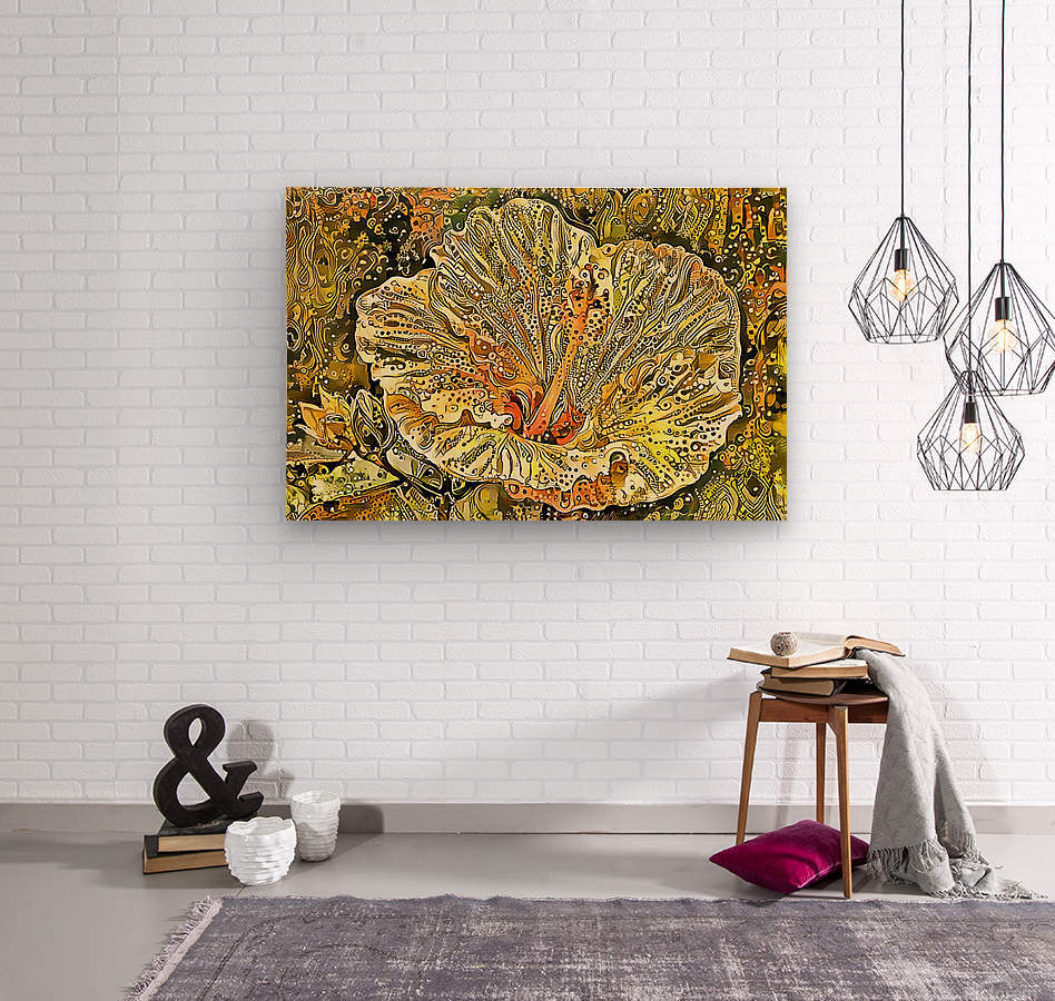 Fanciful Floral  Wood print