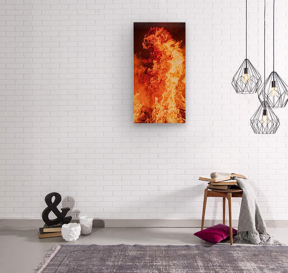 Theyyam Deity  Wood print