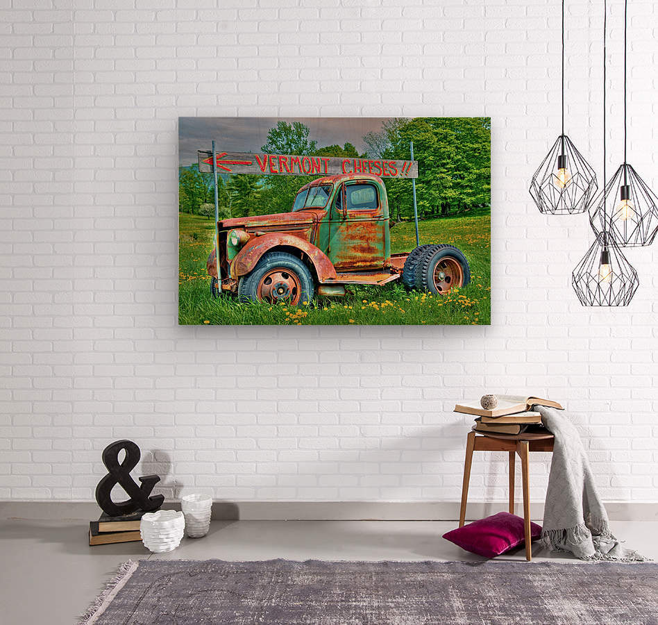 Cheese Truck Spring  621  Wood print