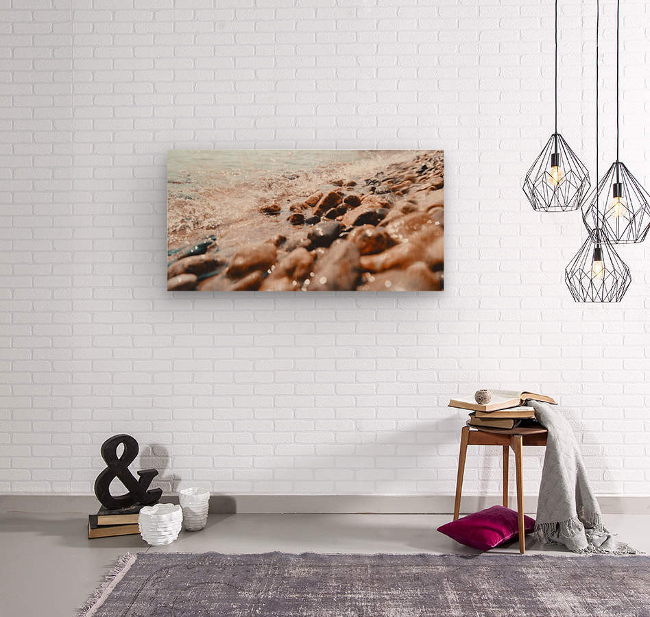 Pebbles and Ripples  Wood print