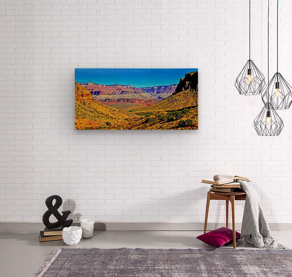 Grand Canyon  Bright Angel Trail 15  Wood print
