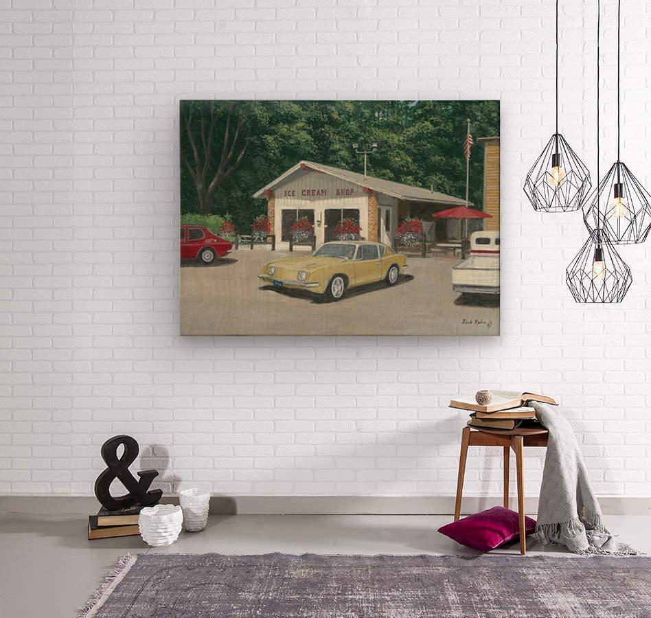 The Ice Cream Shop - Newtown Scenes  12 x 16   Wood print