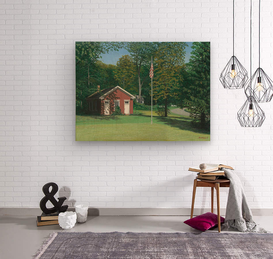 Lands End School - Newtown Scenes 18 X24   Wood print