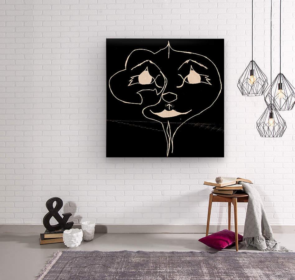 I Will Smile -Black  Wood print