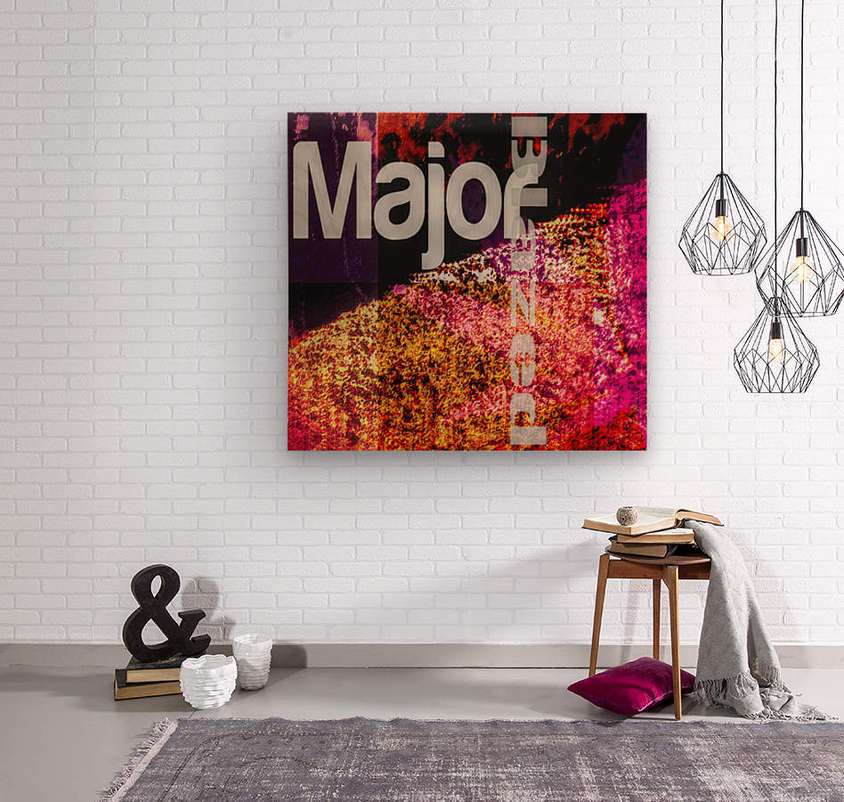 MajorBlazed Pink Fields  Wood print