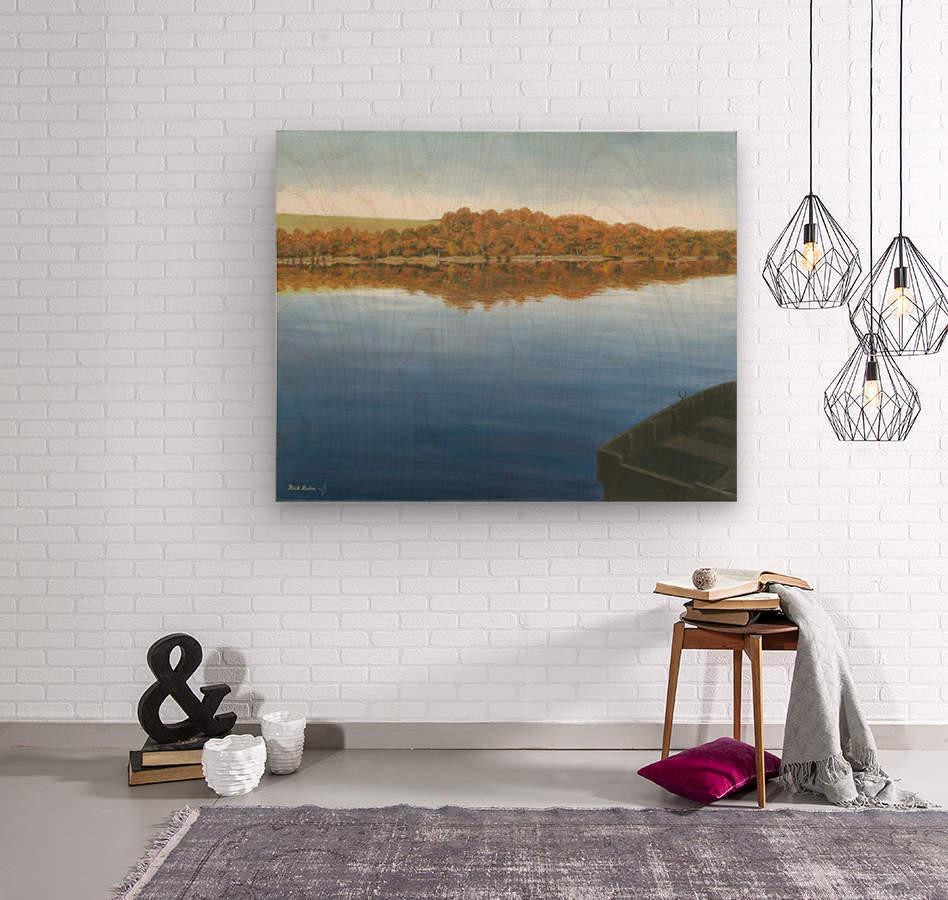 Rowboat on Taunton Lake - Newtown Scenes 16X20  Wood print