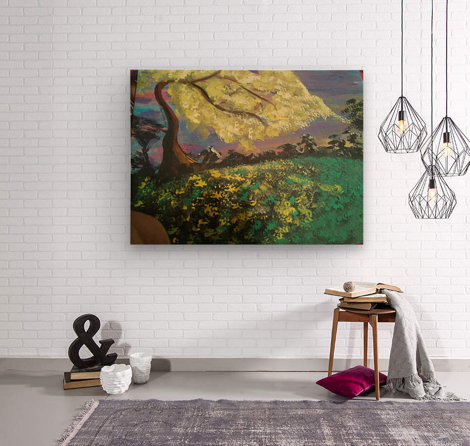 Golden Dreams  Wood print