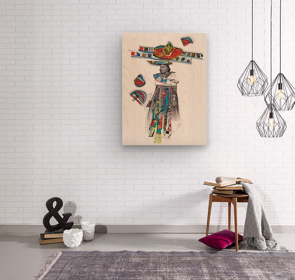 Herero Woman 7  Wood print
