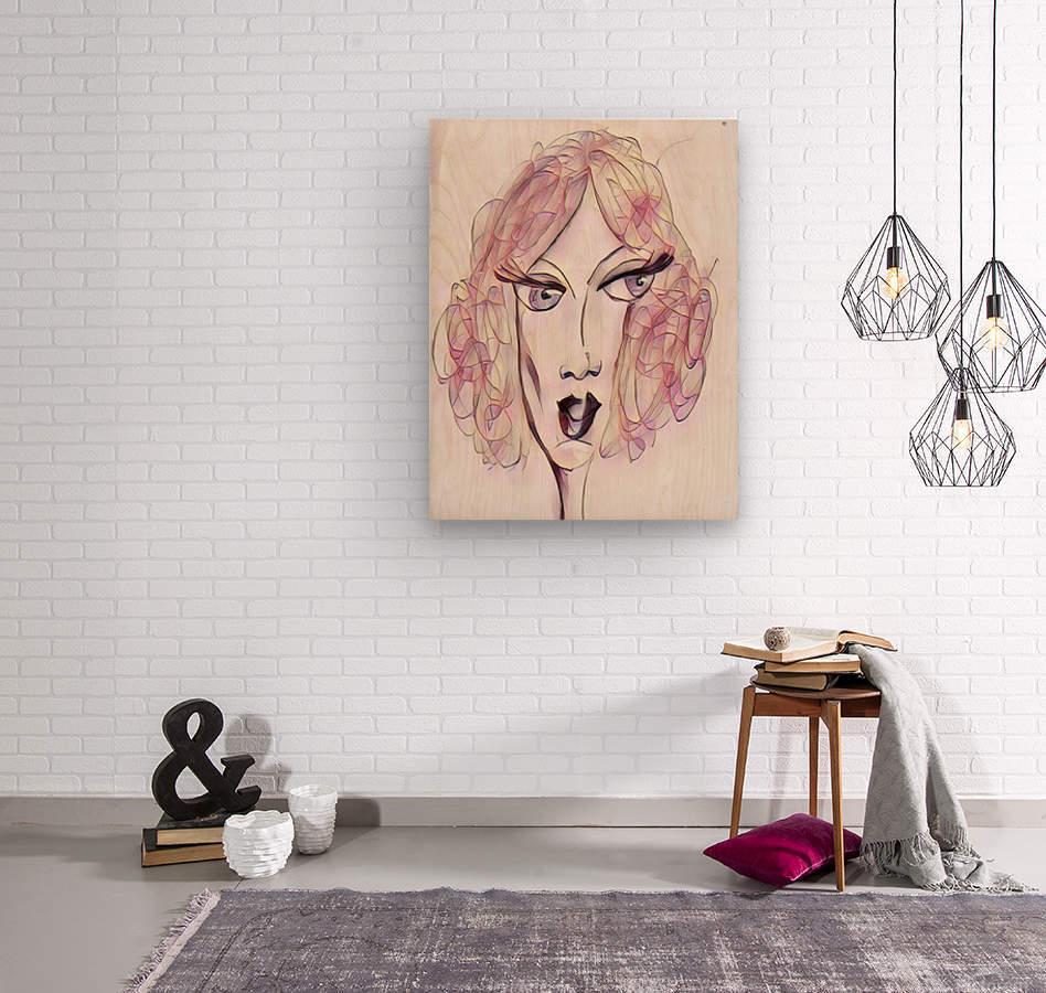 Attitude no.23  Wood print