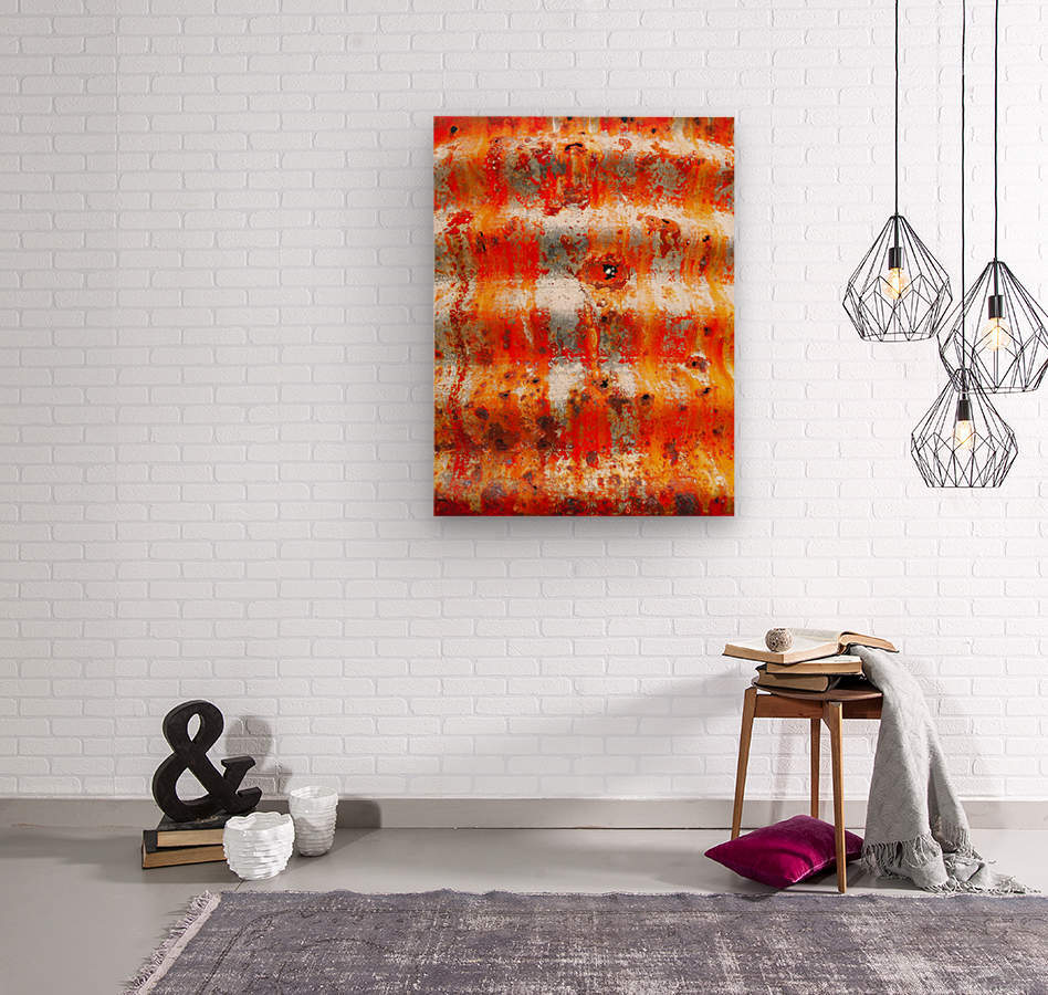 Corrugated Iron Series 13  Wood print
