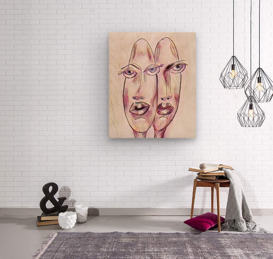 Attitude no.27  Wood print