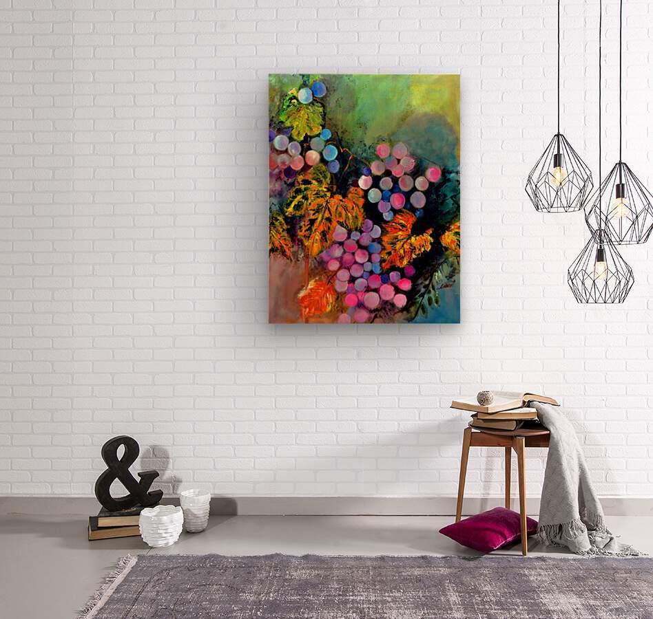 The Grapes  Wood print