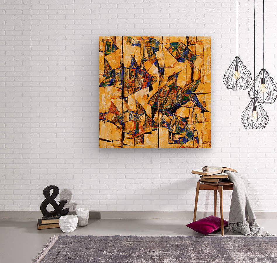 FLOW OF DREAMS_5 18x18  Wood print