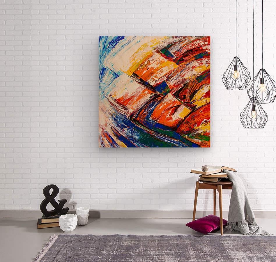 FLOW OF DREAMS_7 - 18x18  Wood print