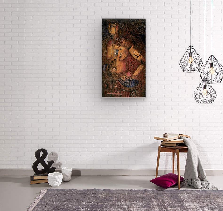 Jeun femme beninoise  Wood print