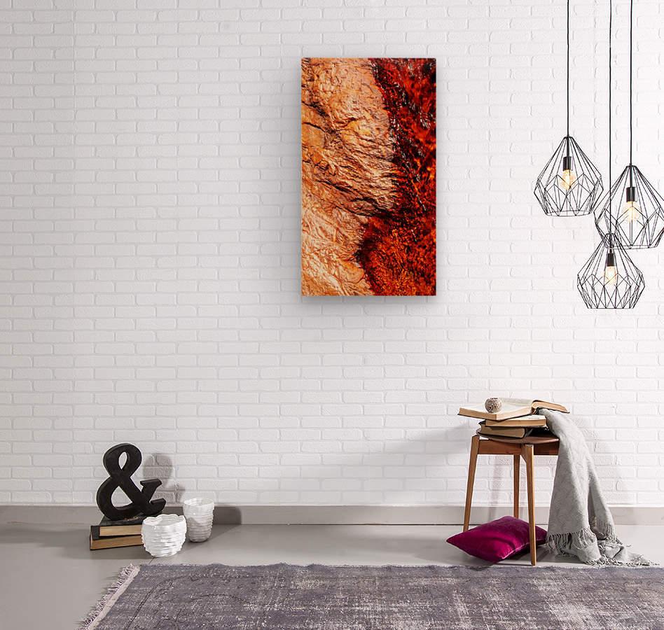 Australia Rocks - Abstract 28  Wood print